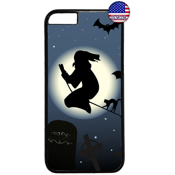 Witch Halloween Night Rubber Case Cover For Iphone