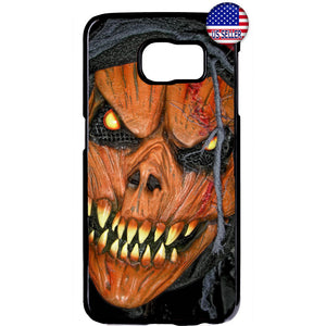 Scary Grim Reaper Pumpkin Halloween Rubber Case Cover For Samsung Galaxy