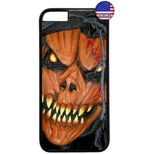 Scary Grim Reaper Pumpkin Halloween Rubber Case Cover For Iphone