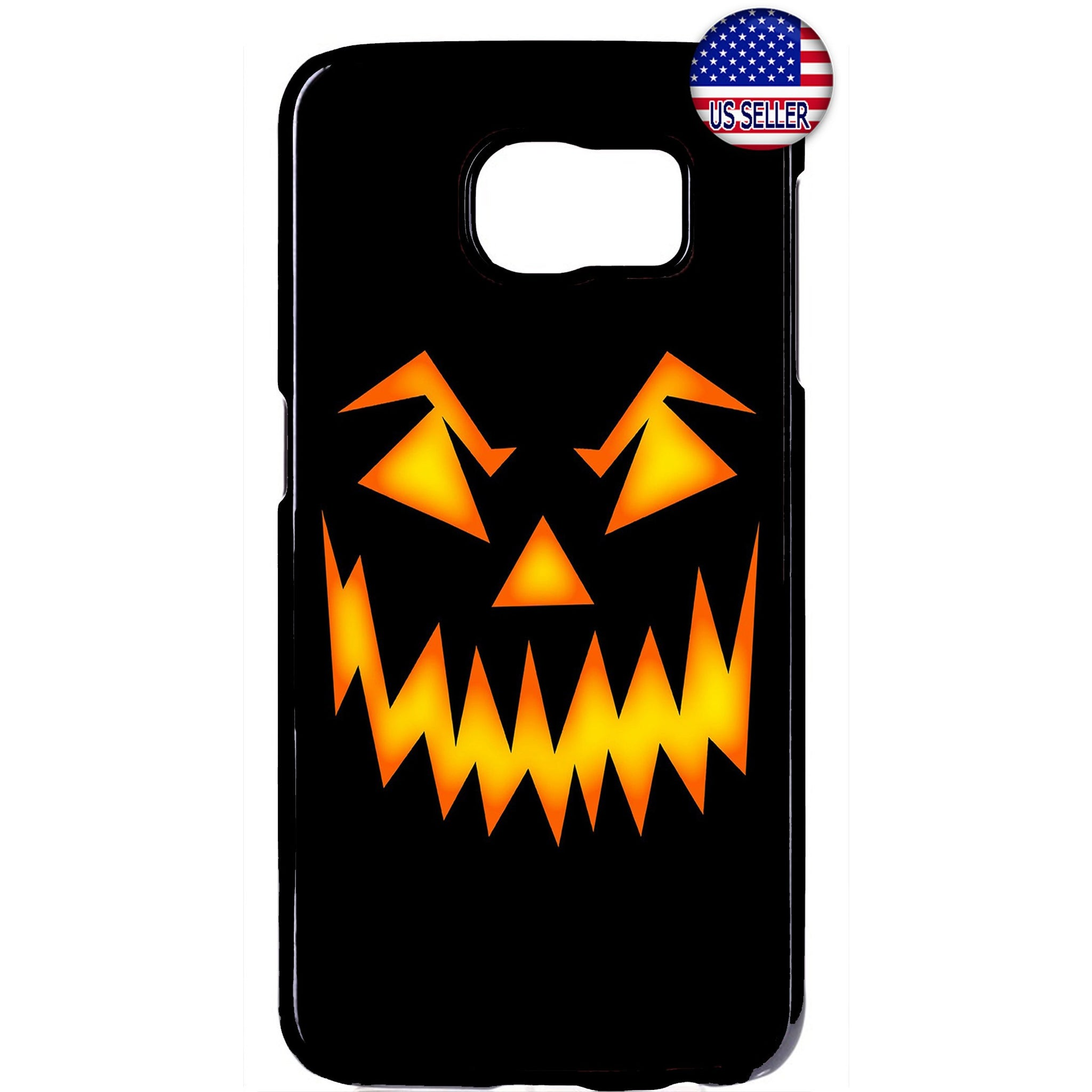 Halloween Scary Pumpkin Face Rubber Case Cover For Samsung Galaxy