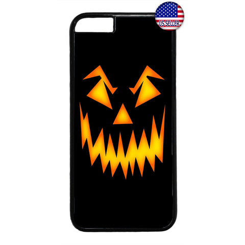 Halloween Scary Pumpkin Face Rubber Case Cover For Iphone