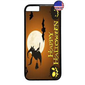 Happy Halloween Night Witch Rubber Case Cover For Iphone