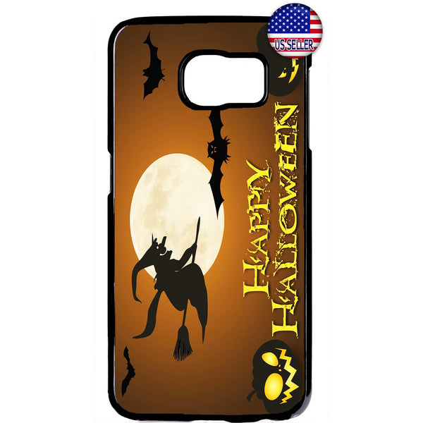 Happy Halloween Night Witch Rubber Case Cover For Samsung Galaxy