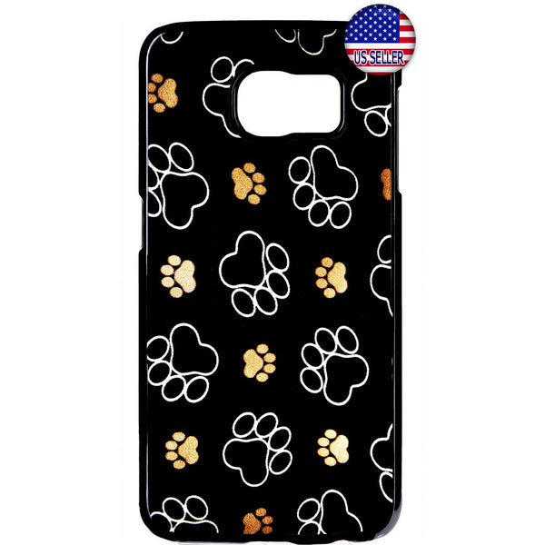 Paw Pet Dog & Cats Cute Kitty Animal Rubber Case Cover For Samsung Galaxy