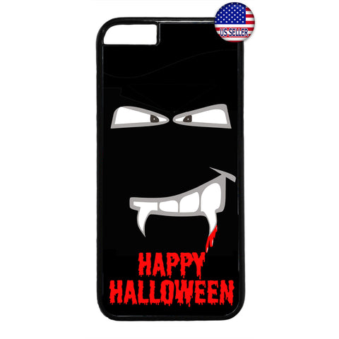 Halloween Vampire Fangs on Blood Rubber Case Cover For Iphone
