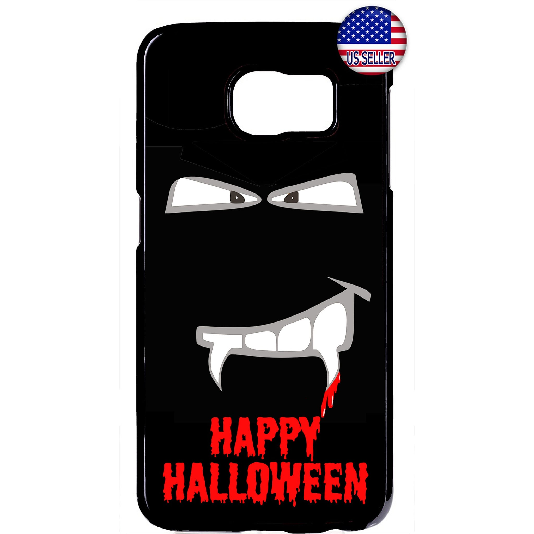 Halloween Vampire Fangs on Blood Rubber Case Cover For Samsung Galaxy Note