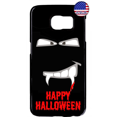Halloween Vampire Fangs on Blood Rubber Case Cover For Samsung Galaxy
