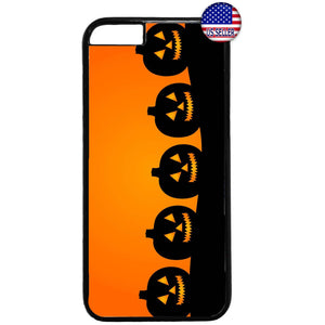 Halloween Night Pumpkins Rubber Case Cover For Iphone