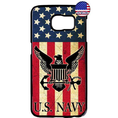 USA Flag Navy Military Forces USN Rubber Case Cover For Samsung Galaxy