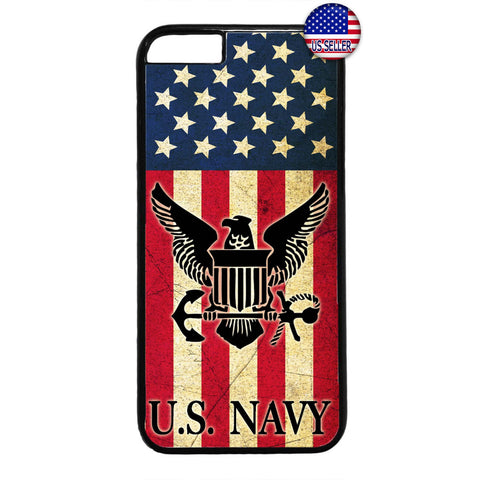 USA Flag Navy Military Forces USN Rubber Case Cover For Iphone
