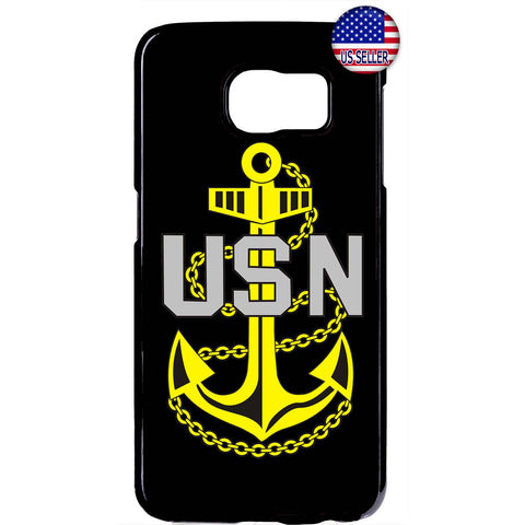 USN US Navy Anchor United States Rubber Case Cover For Samsung Galaxy