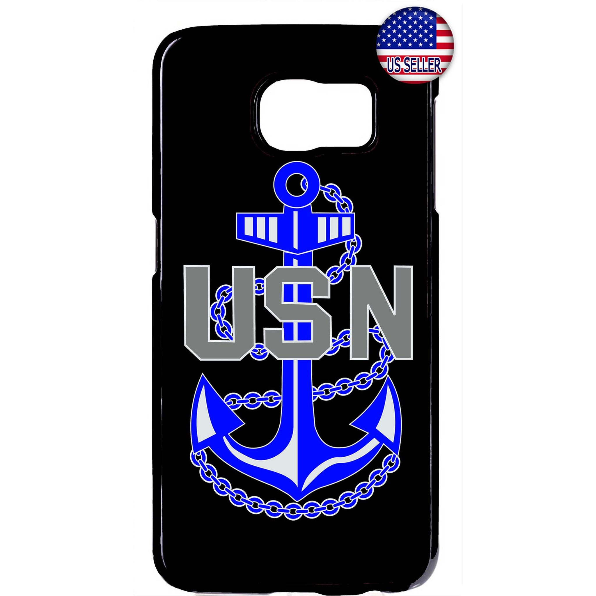 USN US Navy Blue Anchor United States Rubber Case Cover For Samsung Galaxy Note