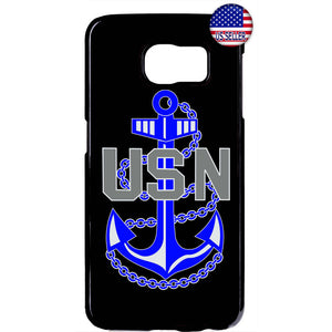 USN US Navy Blue Anchor United States Rubber Case Cover For Samsung Galaxy