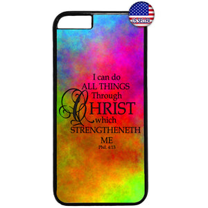 Colorful Bible Christian Jesus Christ Rubber Case Cover For Iphone