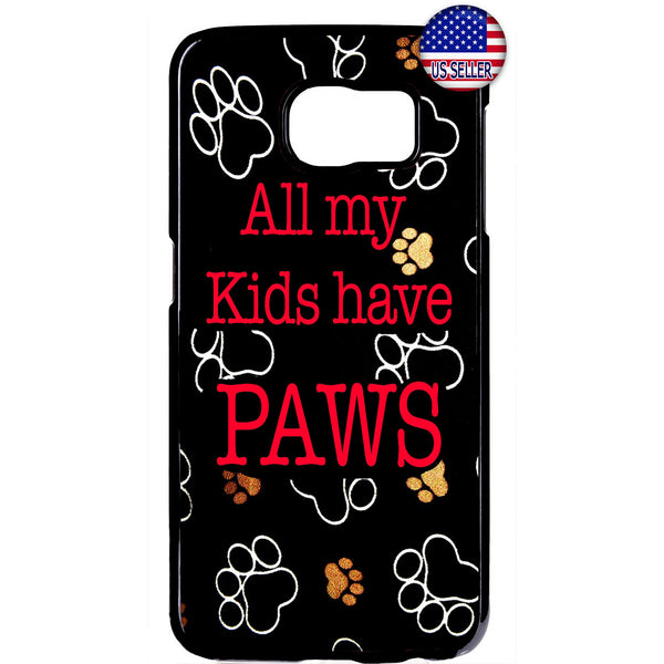 Cats & Dogs Paws Pets Puppy Kitty Animal Rubber Case Cover For Samsung Galaxy
