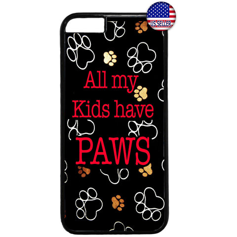 Cats & Dogs Paws Pets Puppy Kitty Animal Rubber Case Cover For Iphone