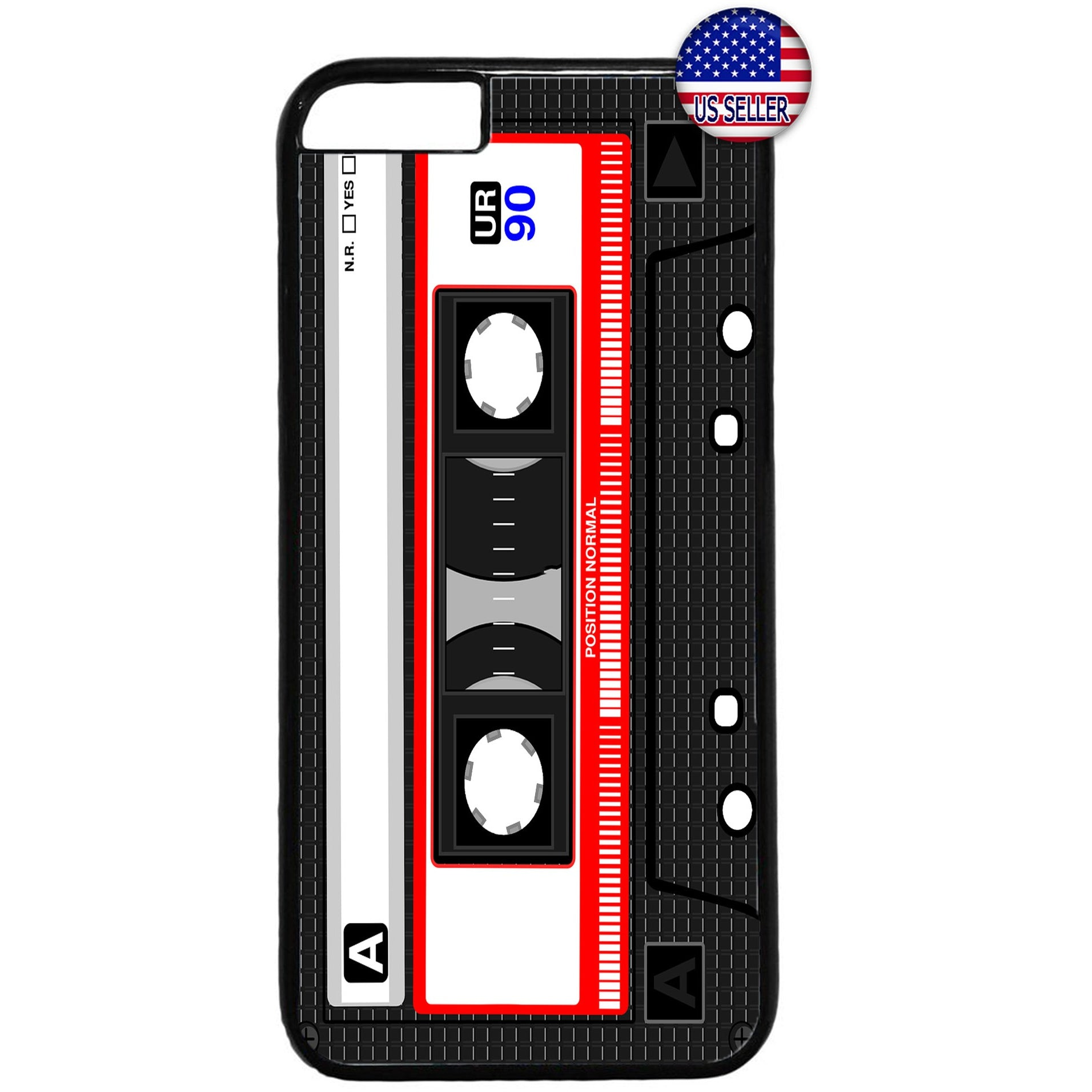 Old School Cassette Tape Rubber Case Cover For Iphone