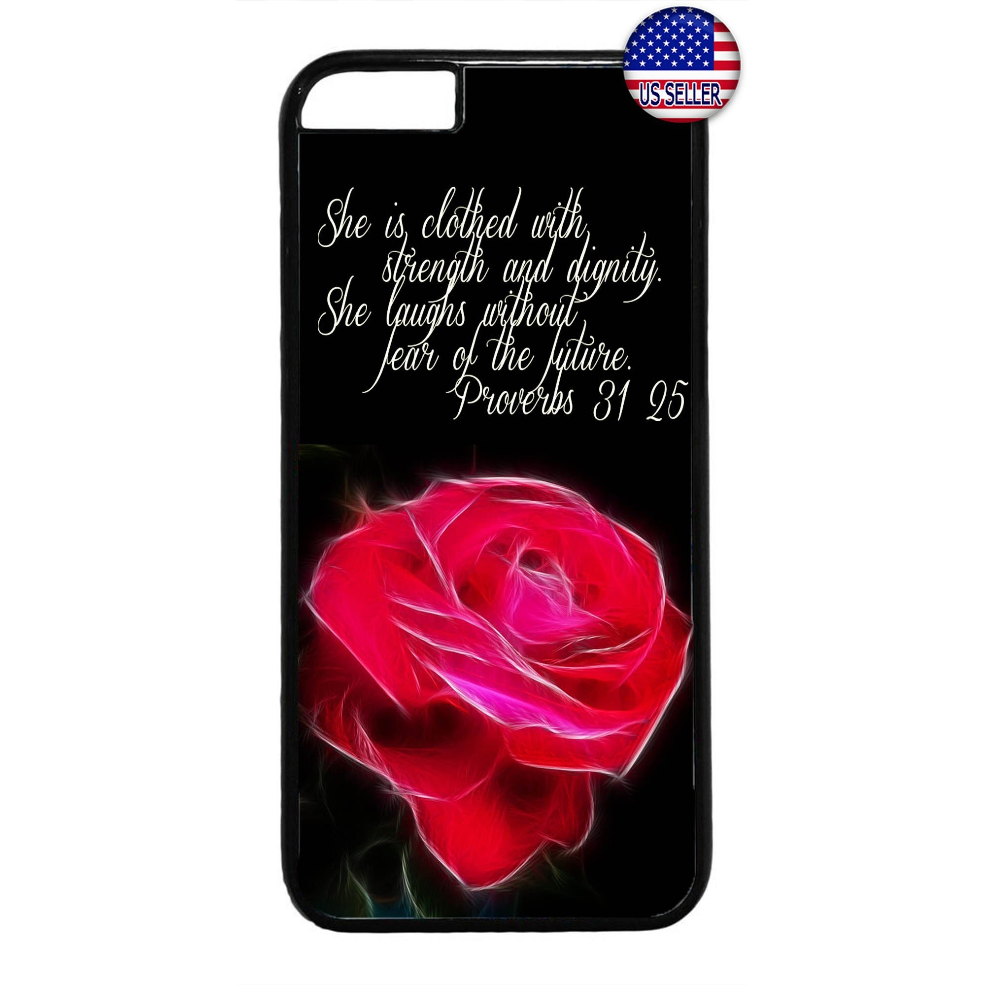 Jesus Christ Rose Bible Verse Christian Rubber Case Cover For Iphone