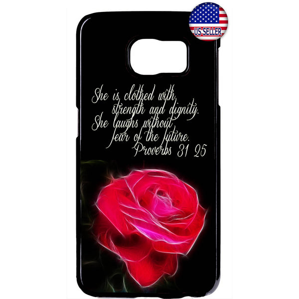 Jesus Christ Rose Bible Verse Christian Rubber Case Cover For Samsung Galaxy