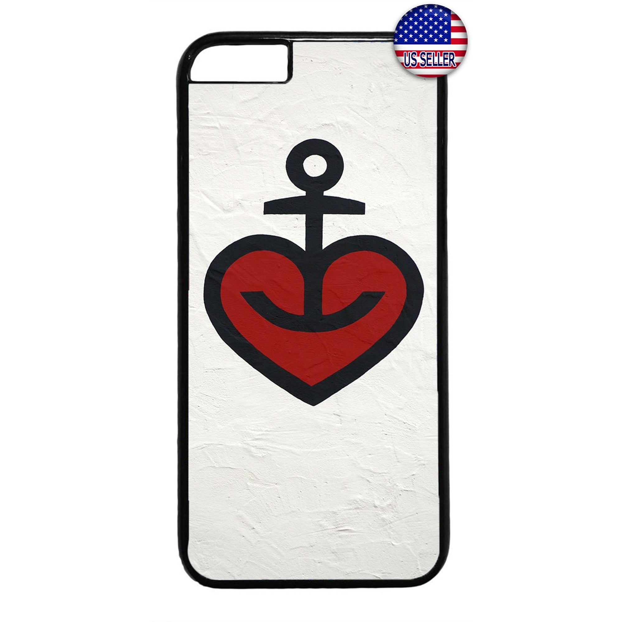 Heart Anchor Love Hope Rubber Case Cover For Iphone