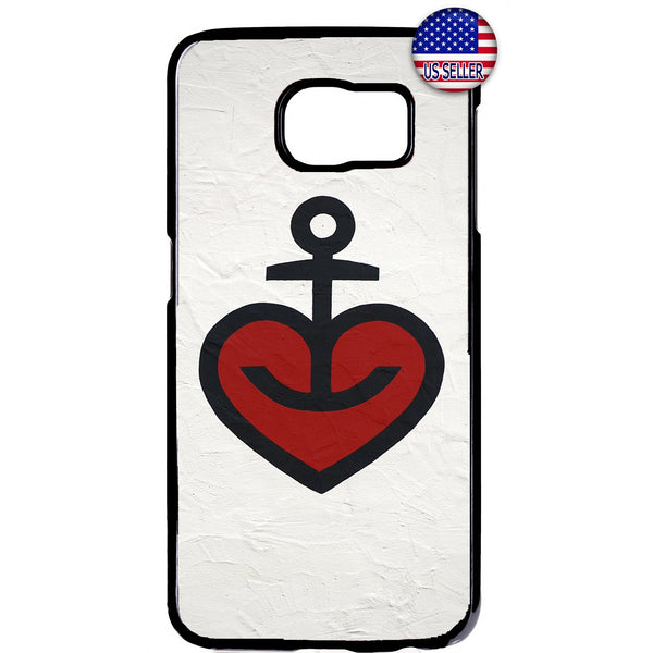 Heart Anchor Love Hope Rubber Case Cover For Samsung Galaxy