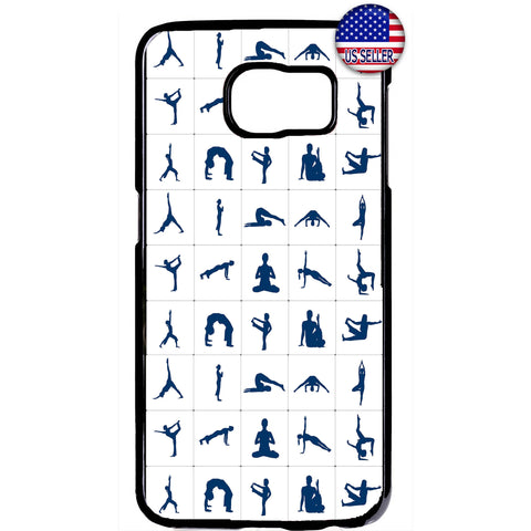 Yoga Fitness Poses Emoji Rubber Case Cover For Samsung Galaxy