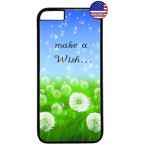 Make A Wish Dandelion Rubber Case Cover For Iphone