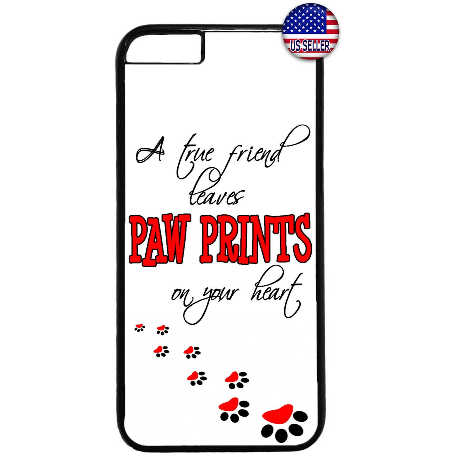 True Friend Cats & Dogs Pet Animal Rubber Case Cover For Iphone