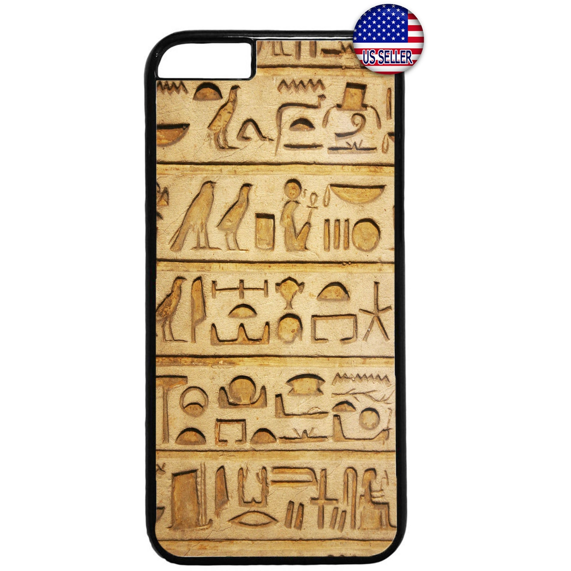 Egyptian Papyrus Print Hieroglyphics Rubber Case Cover For Iphone