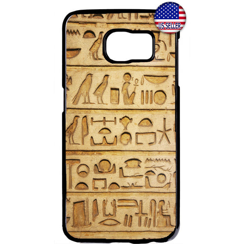 Egyptian Papyrus Print Hieroglyphics Rubber Case Cover For Samsung Galaxy