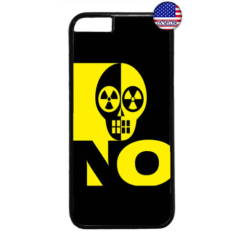 Radioactive Sign Skull Rubber Case Cover For Iphone