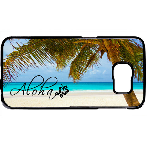 Aloha Hawaii Beach Life Palm Tree Rubber Case Cover For Samsung Galaxy