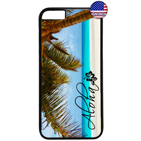 Aloha Hawaii Beach Life Palm Tree Rubber Case Cover For Iphone