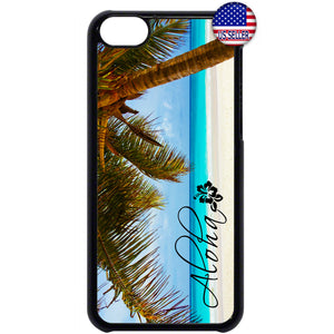 Aloha Hawaii Beach Life Palm Tree Rubber Case Cover For Ipod Touch