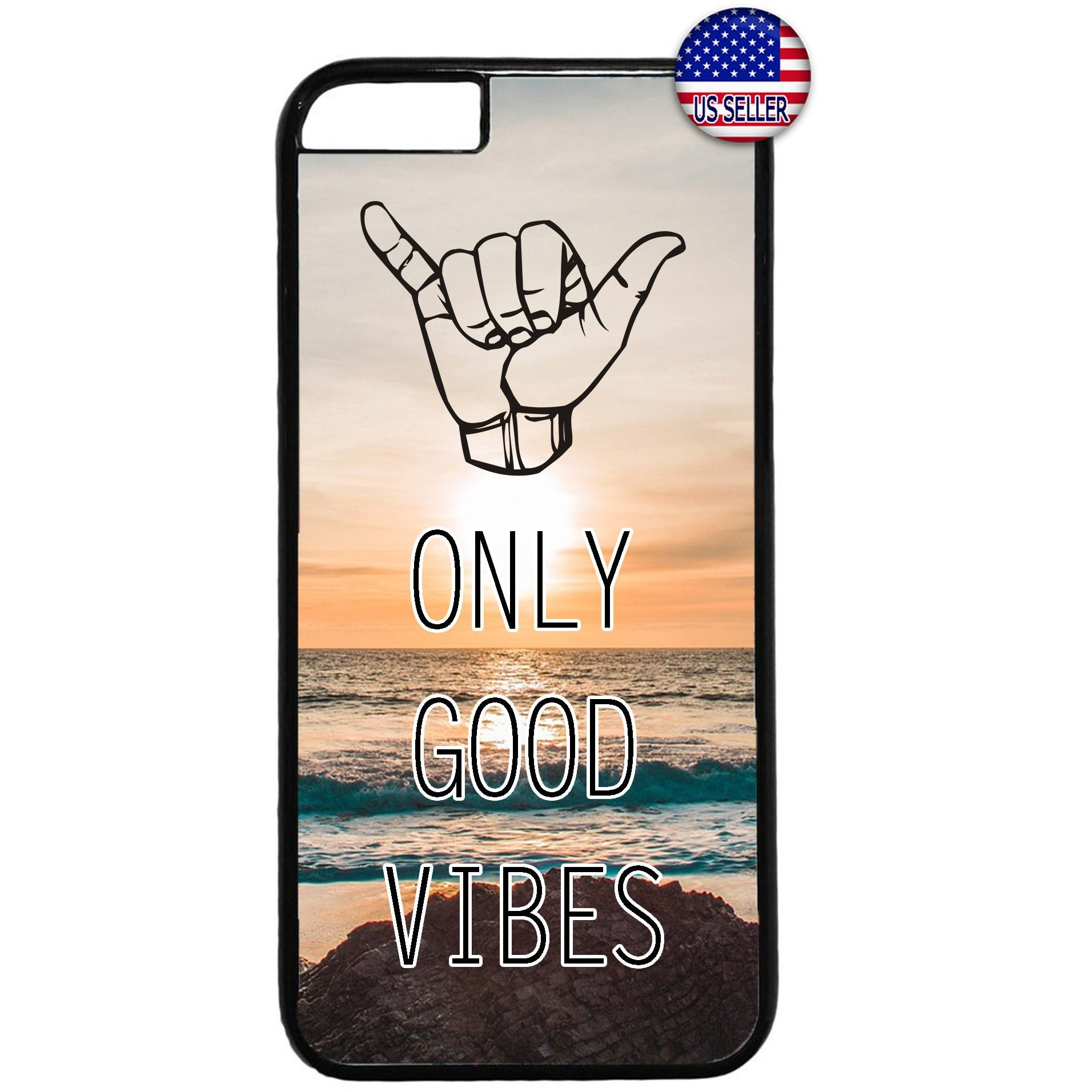Only Good Vibes Beach Hawaii Rubber Case Cover For Iphone