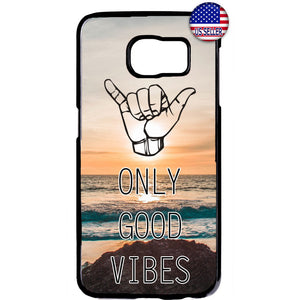 Only Good Vibes Beach Hawaii Rubber Case Cover For Samsung Galaxy