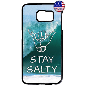 Stay Salty Cool Surfer Hawaii Rubber Case Cover For Samsung Galaxy
