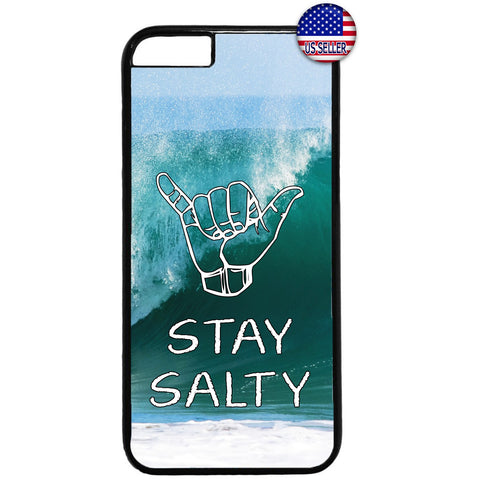 Stay Salty Cool Surfer Hawaii Rubber Case Cover For Iphone