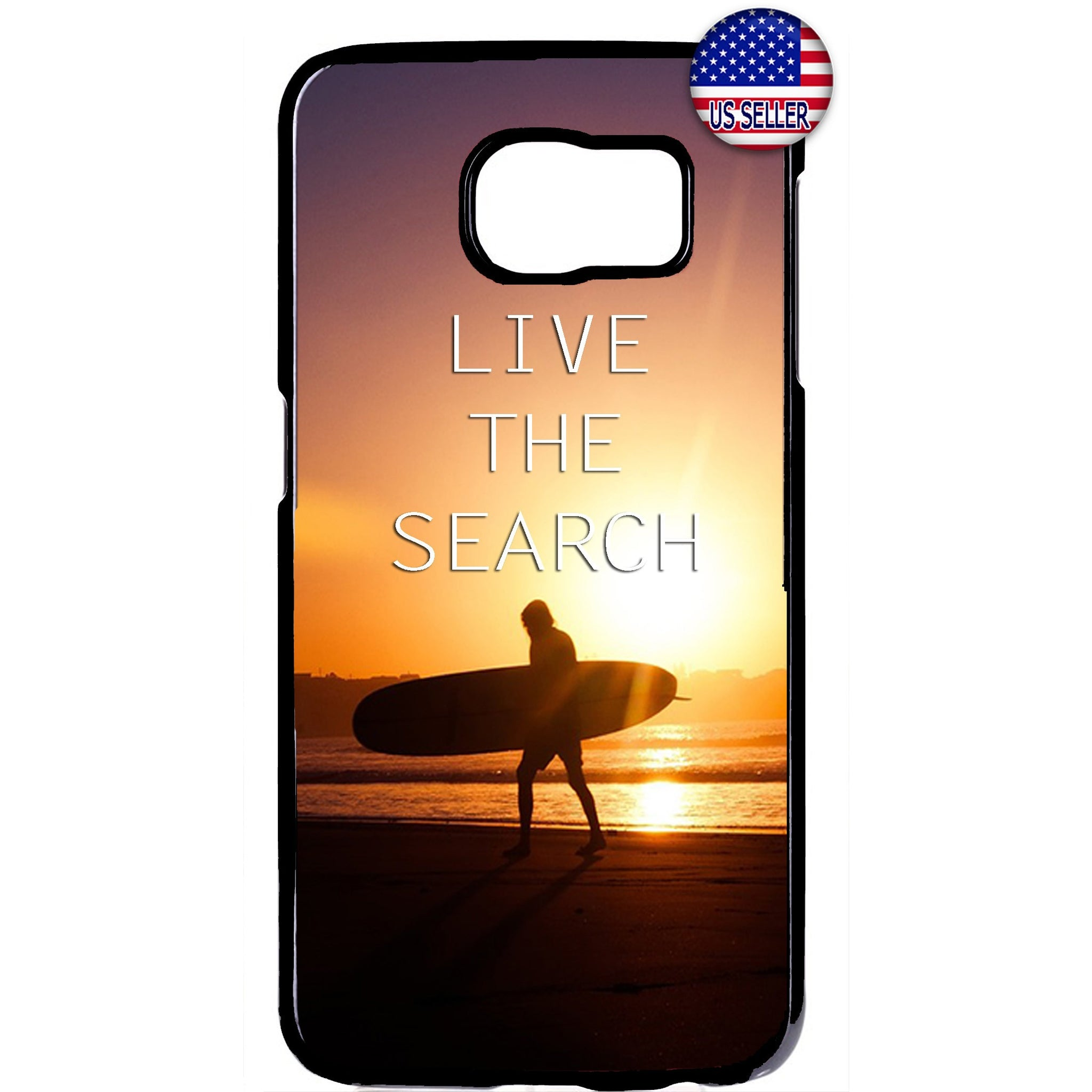 Live The Search Surfer Hawaii Rubber Case Cover For Samsung Galaxy Note