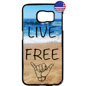 Cool Waves Live Free Rubber Case Cover For Samsung Galaxy