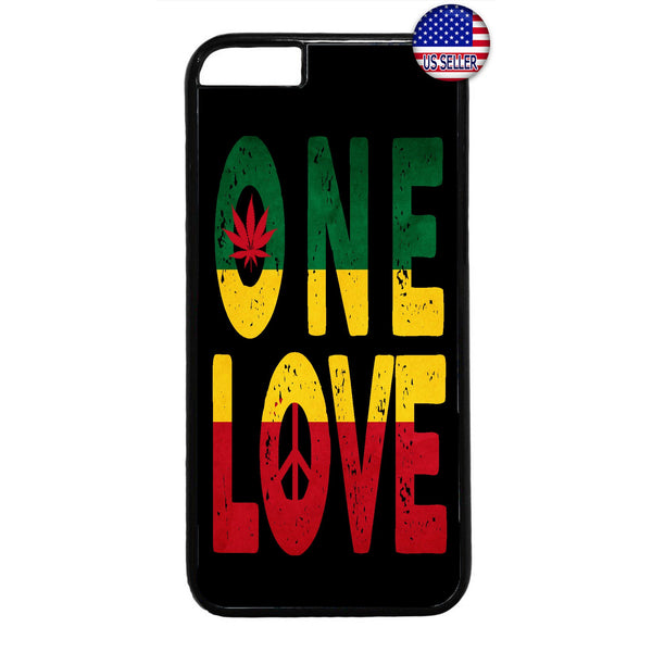 One Love Rasta Weed Marijuana Rubber Case Cover For Iphone