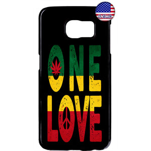 One Love Rasta Weed Marijuana Rubber Case Cover For Samsung Galaxy