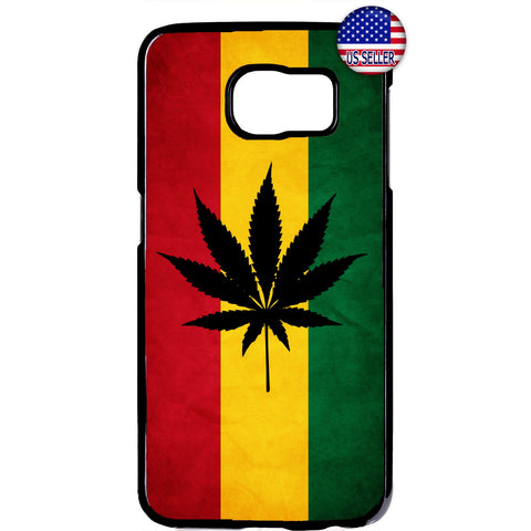 Weed Leaf Reggae Rasta Marijuana Rubber Case Cover For Samsung Galaxy
