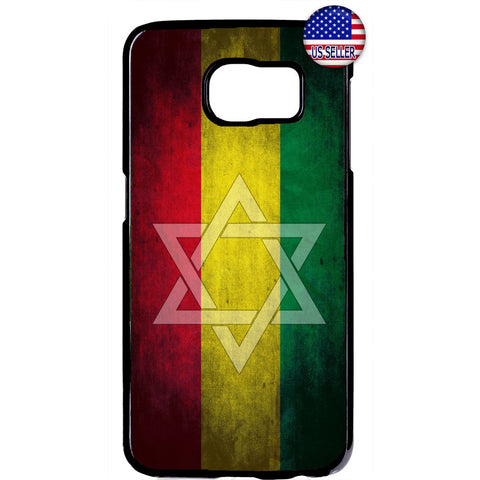 Zion Star Reggae Rasta Marijuana Rubber Case Cover For Samsung Galaxy