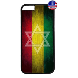 Zion Star Reggae Rasta Marijuana Rubber Case Cover For Iphone