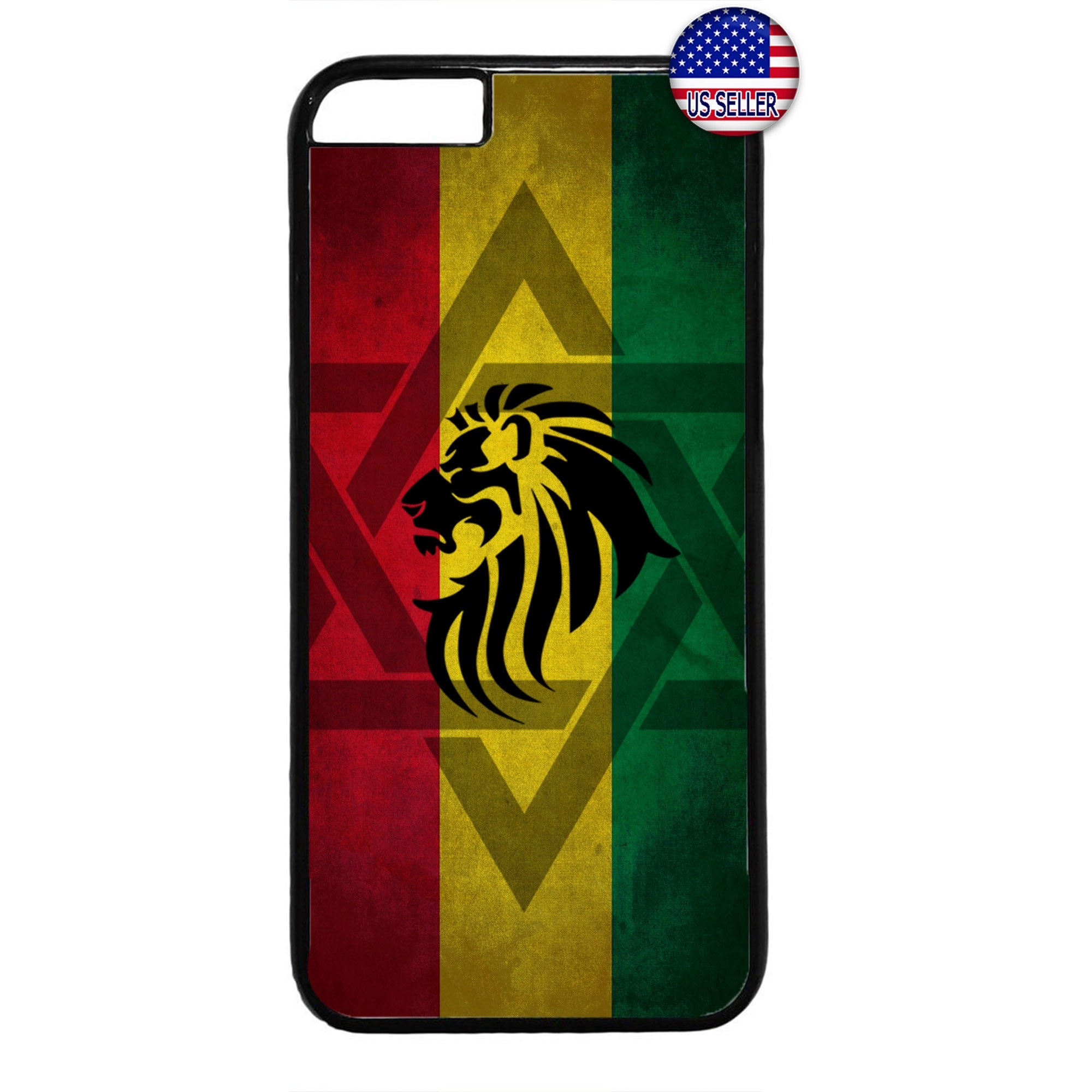Rasta Flag Reggae Lion Marijuana Rubber Case Cover For Iphone