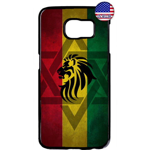Rasta Flag Reggae Lion Marijuana Rubber Case Cover For Samsung Galaxy