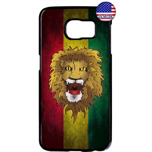 Reggae Rastafari Lion Marijuana Rubber Case Cover For Samsung Galaxy
