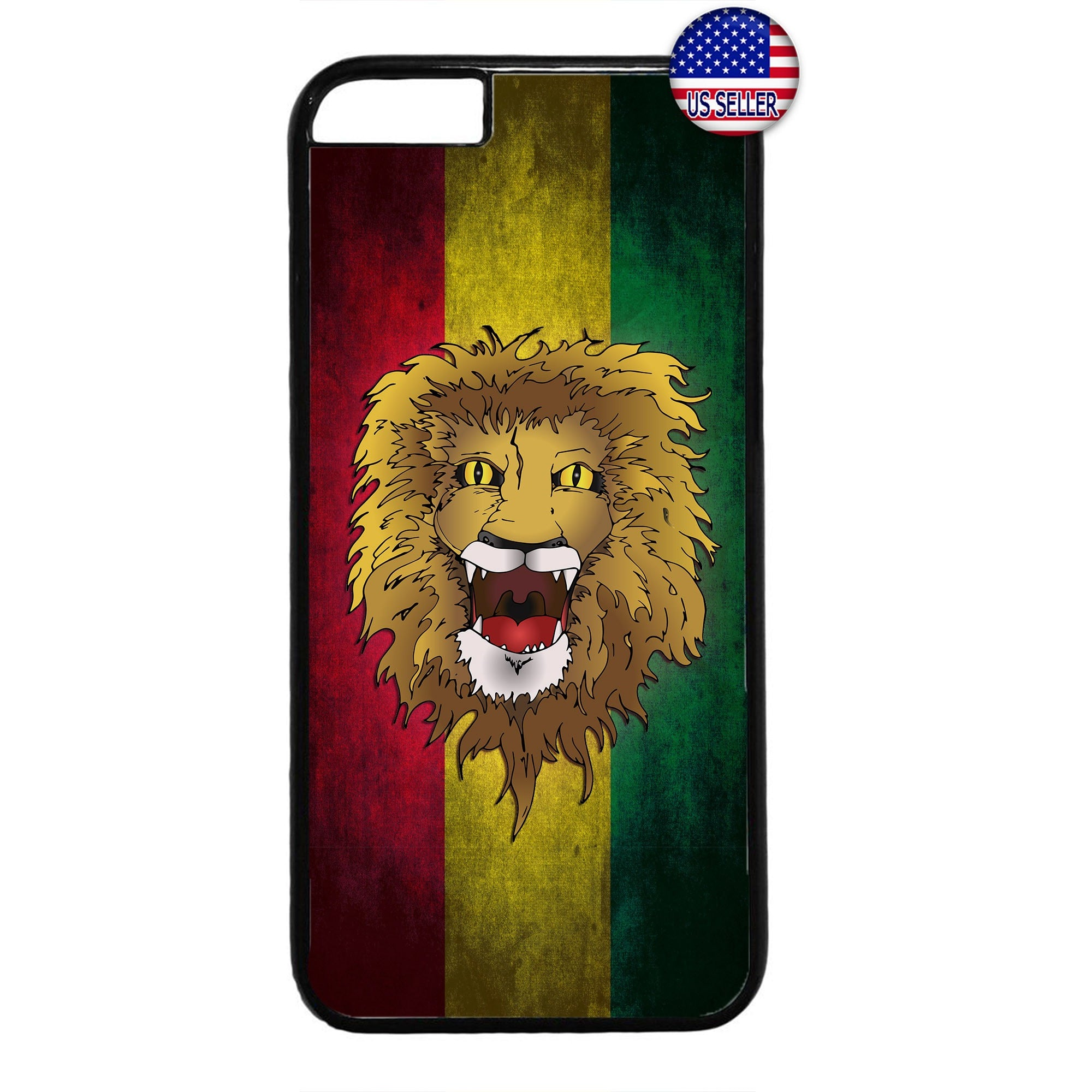 Reggae Rastafari Lion Marijuana Rubber Case Cover For Iphone