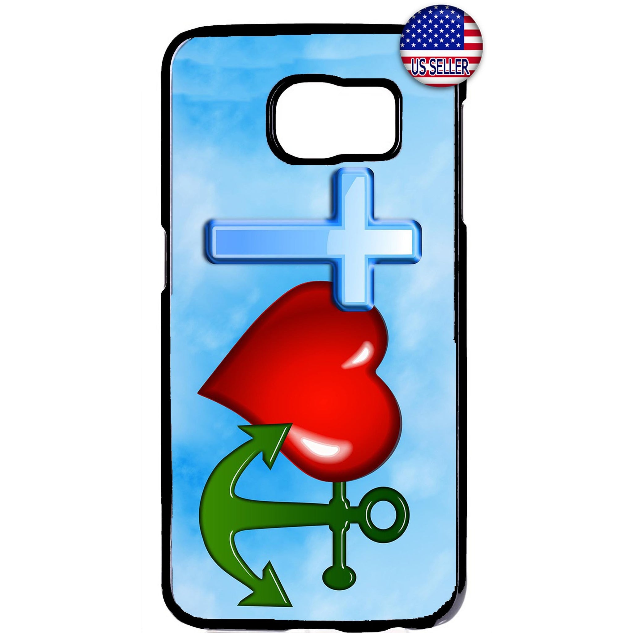 Cross Love Anchor Bible Christian Rubber Case Cover For Samsung Galaxy